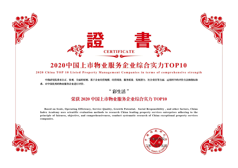 2020中国上市物业服务企业综合实力Top10